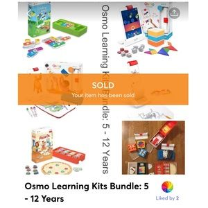 SOLD! OSMO Learning Kits Bundle: 5 - 12 Years